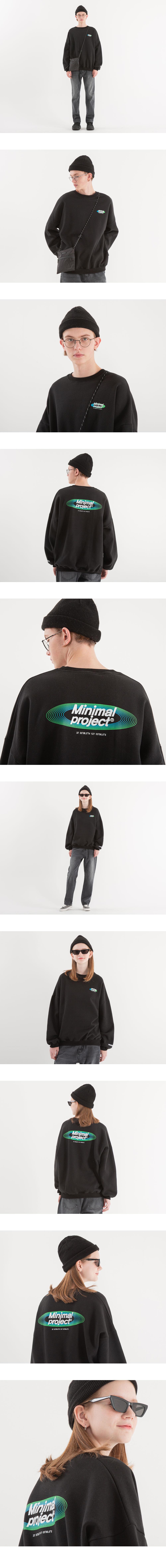 [minimal project] 미니멀프로젝트 오벌 그라데이션 오버핏 맨투맨 MMT105 [BLACK]
