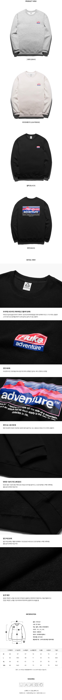 플루크 마운틴 선셋 맨투맨티셔츠 FMT307 / 3color