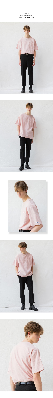 [minimal project] 미니멀프로젝트 라운드 린넨 오버핏 반팔티셔츠 MST114 [INDIPINK]